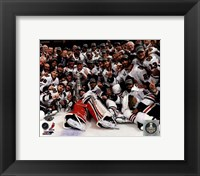 Framed Chicago Blackhawks celebrate 2013 Stanley Cup Finals