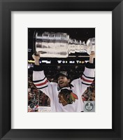 Framed Duncan Keith with the Stanley Cup Game 6 of the 2013 Stanley Cup Finals