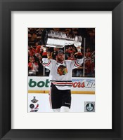 Framed Bryan Bickell with the Stanley Cup Game 6 of the 2013 Stanley Cup Finals