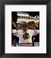 Framed Andrew Shaw with the Stanley Cup Game 6 of the 2013 Stanley Cup Finals