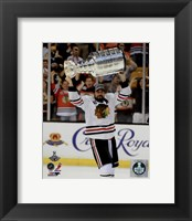 Framed Patrick Sharp with the Stanley Cup Game 6 of the 2013 Stanley Cup Finals