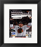 Framed Marian Hossa with the Stanley Cup Game 6 of the 2013 Stanley Cup Finals