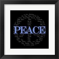 Framed Peace Sign - black