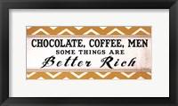 Chocolate Coffee Men Framed Print