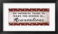 Dinner Reservation Framed Print