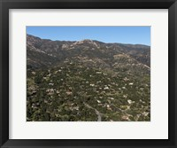 Framed Aerial view of Santa Barbara, California