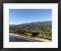 Framed Aerial view Santa Barbara, California