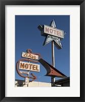 Framed Star Motel in Lompoc, California