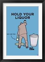 Framed Guy Code - Hold Your Liquor