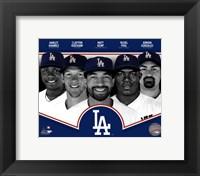Framed Los Angeles Dodgers 2013