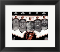 Framed Baltimore Orioles 2013 Team Composite