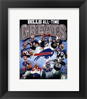 Framed Buffalo Bills All Time Greats Composite