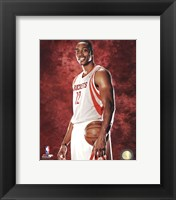 Framed Dwight Howard #12 of the Houston Rockets posed