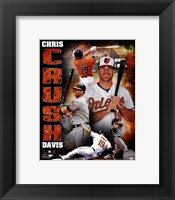 Framed Chris Davis 2013 Portrait Plus