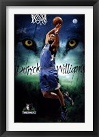 Framed Minnesota Timberwolves - D Williams 13