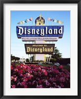 Framed Disneyland in Orange County, California, 1955