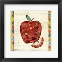 Fruit Collage I - Apple Framed Print