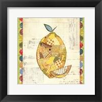 Fruit Collage II - Lemon Framed Print