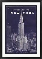Framed Blueprint Map New York Chrysler Building