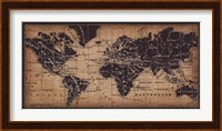 Framed Old World Map ( in French)