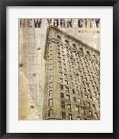 Framed Vintage NY Flat Iron