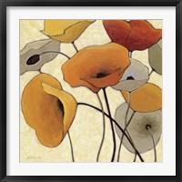 Framed Pumpkin Poppies III