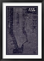 Framed Blueprint Map New York