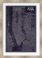 Framed Blueprint Map New York