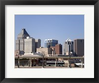 Framed Greensboro Skyline