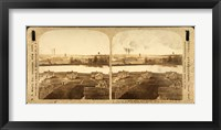 Framed Partial view of White Oak Cotton Mills. Greensboro, NC