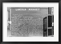 Framed Lincoln Market Winston Salem, North Carolina