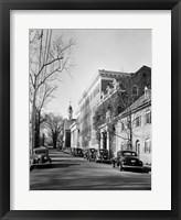 Framed Salem College, General View, Salem Square, Winston-Salem, Forsyth County, NC