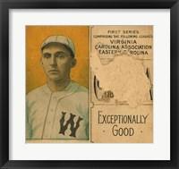 Framed Gilmore, Winston-Salem Team, Baseball Card Portrait