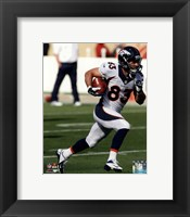 Framed Wes Welker Running Football