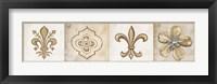 Framed Fleur 4 Panel I