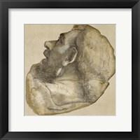 Framed Cartoon of the Head of Saint James