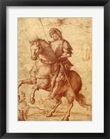 Framed Saint on Horseback