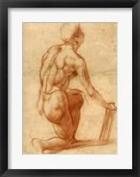 Framed Study of a Kneeling Figure