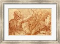 Framed Studies of Saints John the Baptist and Jerome