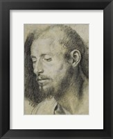 Framed Study of the Head of a Bearded Man