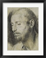 Framed Study of the Head of a Bearded Man