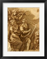 Framed Victory, Janus, Chronos & Gaea