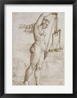 Framed Allegory of Justice