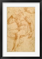 Framed Studies of a Male Nude, a Drapery, and a Hand