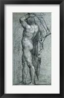 Framed Nude Man Carrying a Rudder on His Shoulder