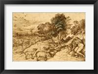 Framed Pastoral Scene