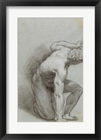 Framed Kneeling Figure