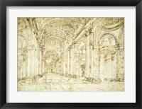 Framed Interior of Saint Peter's Basilica