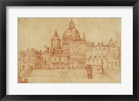 Framed View of Saint Peter's (recto); Study of a Young Man