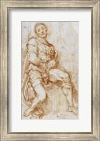 Framed Seated Man